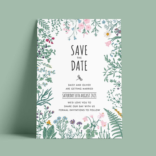 Botanical Style Save the Date