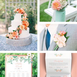 Peachy Florals Wedding Theme