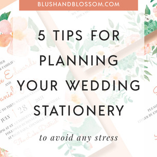Top Tips for Planning your Wedding Stationery and Invitations