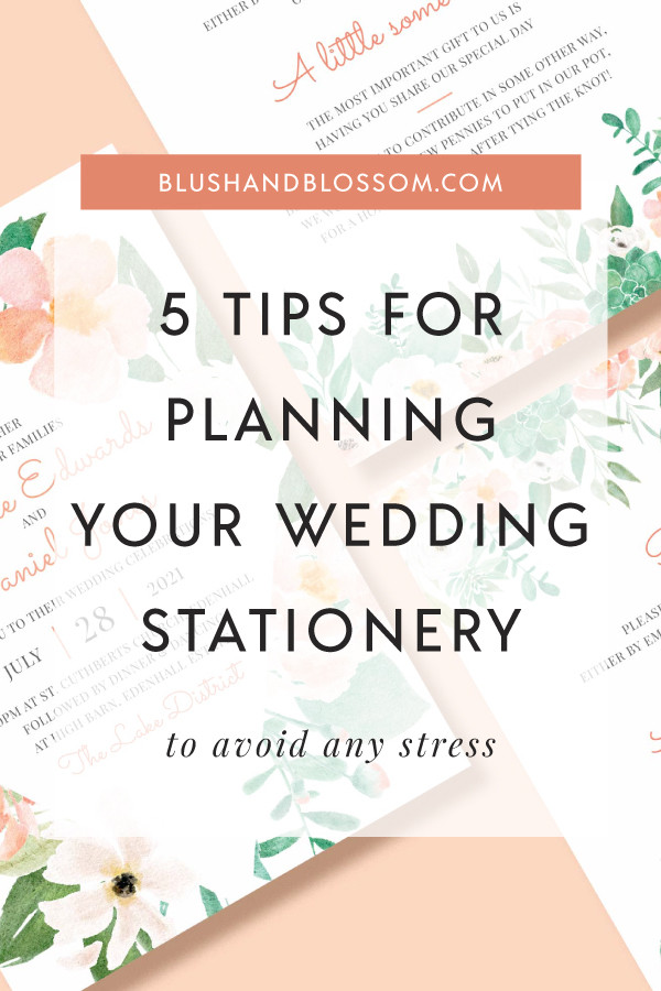 Tips for planning your wedding stationery and invitations