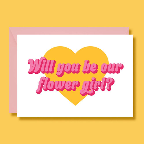 Will You Be My Flower Girl Wedding Cards