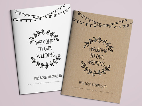 Kids Wedding Activity Book