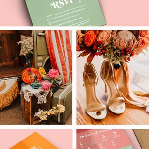 1970s Retro Style Invitations and Wedding Ideas