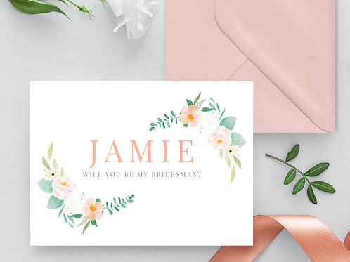 Bridesman Wedding Proposal Card