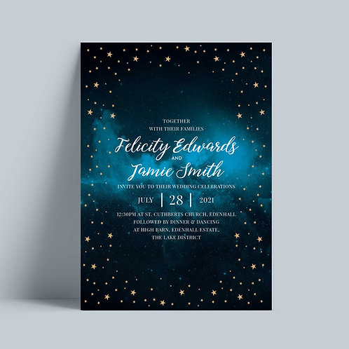 Celestial Wedding Invitation Card