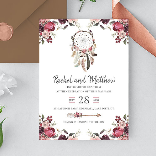 Wedding invitation design UK