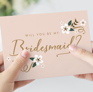 Bridesmaid and Maid of Honour Proposal Cards
