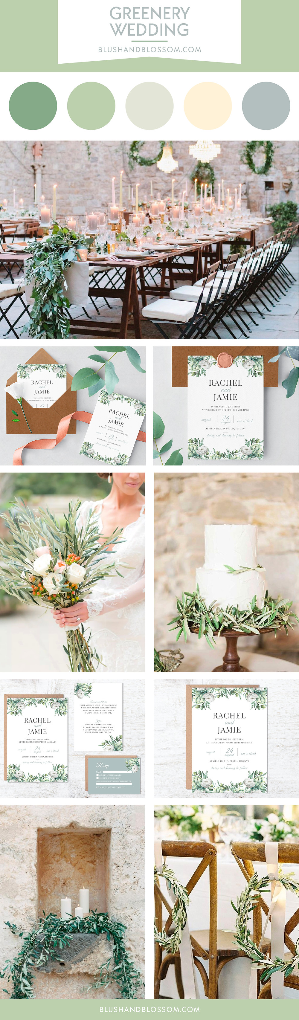 Greenery wedding theme ideas and inspiration