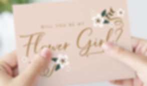 Wedding proposal card for flower girl