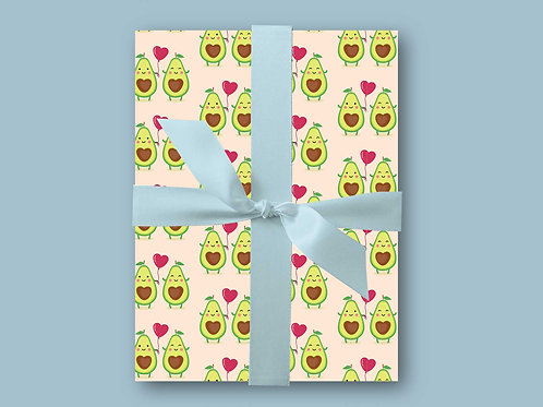 Avocado Wrapping Paper, Funny Wrapping Paper