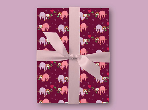 Sloth Wrapping Paper, Sloth Gift Wrap