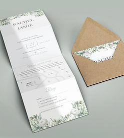 Greenery and Eucalyptus Wedding Invitation | Classic and Elegant