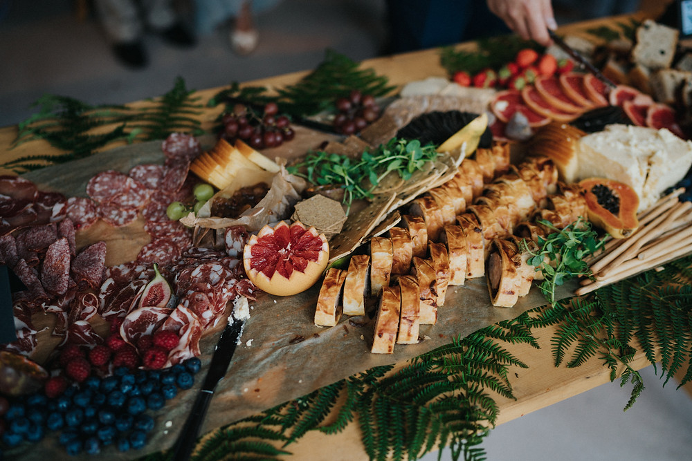 Grazing table for a wedding