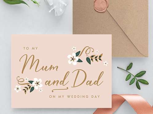 Thank you card for mum and dad wedding