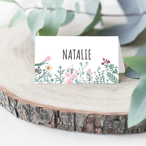 Folded Name Cards for Wedding