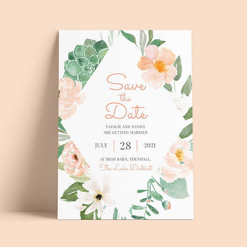 Peach Save the Date