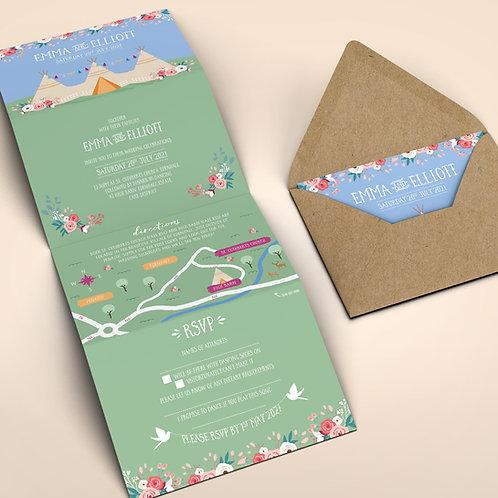 Tipi Wedding Invitation