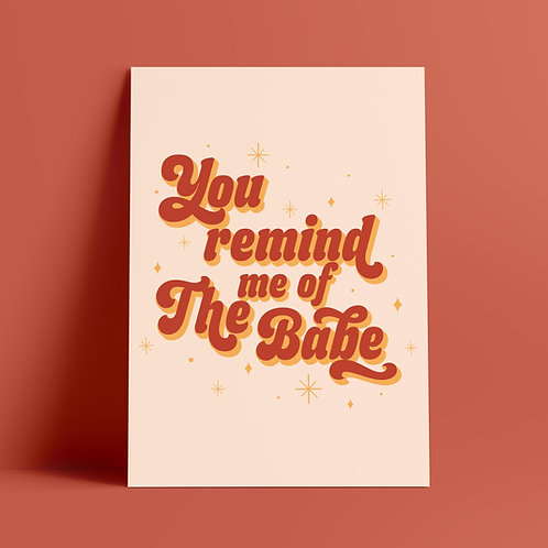 David Bowie, Labyrinth, You Remind Me of The Babe, Quote, Print, Lyrics, Art, Poster, Wall Art, Typography, Magic Dance, UK