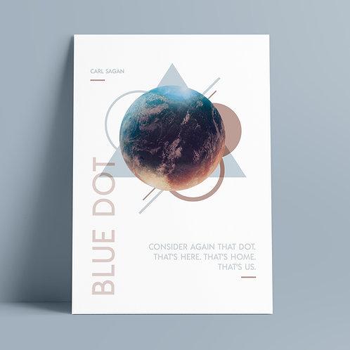 Carl Sagan, Consider Again That Dot, Pale Blue Dot Graphic Art Print A4, Carl Sagan Poster