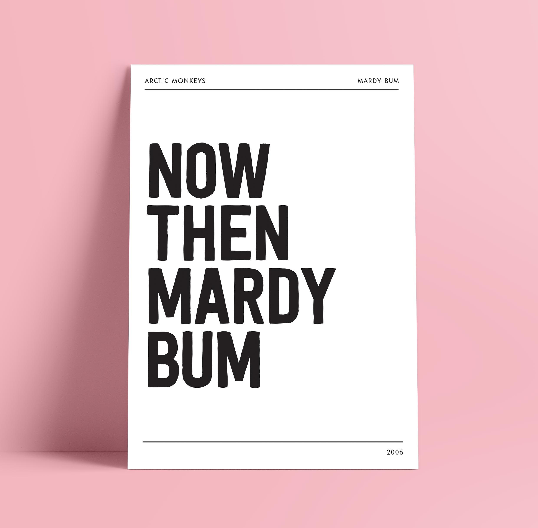 Heartbeat Sound Wave Art Print Mardy Bum Arctic Monkeys A4 Size