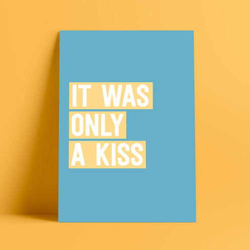 The Killers, Mr Brightside, It Started out with a kiss, It was only a kiss, Music Print, Poster, Wall Art, A4 Art, Typography