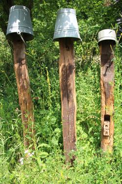gelungene Wildbienennisthilfe