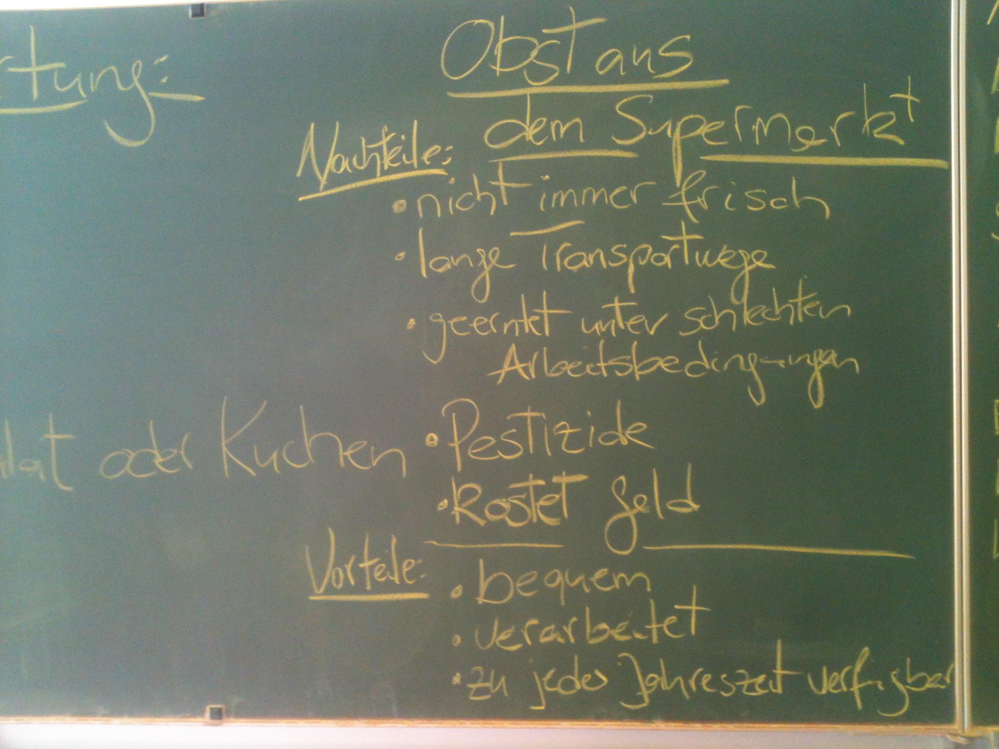 Klassenzimmer im Grünen