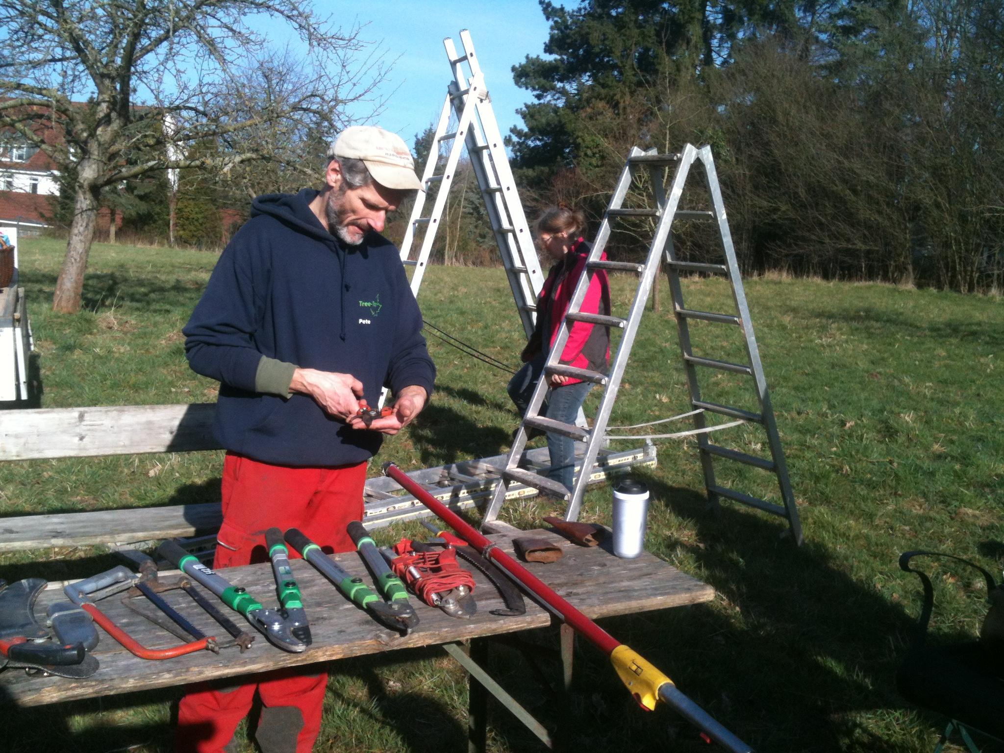 Werkzeugkunde beim Obstbaumschnitt