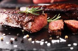 Barbecue Rib Eye Steak or rump steak - D