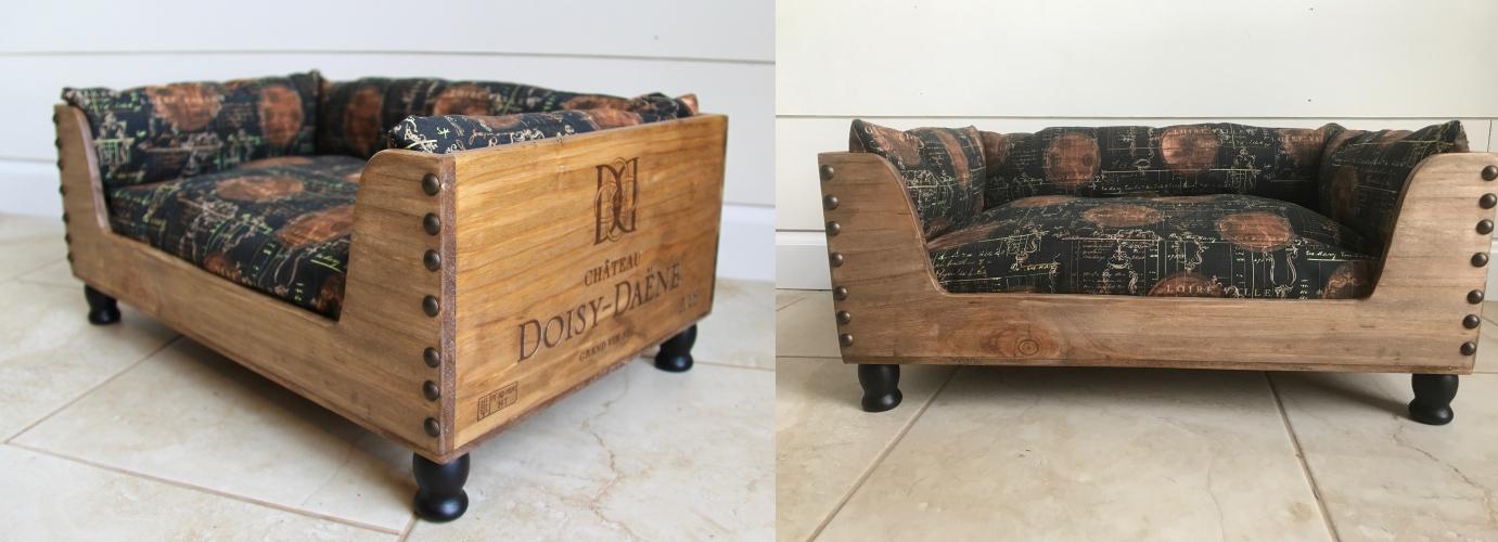 Wine CratePet Bed- Barrel