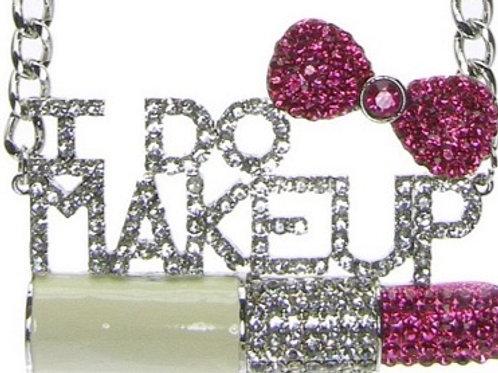 I Do Makeup Rhinestone Necklace