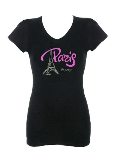 Pink Paris Rhinestone T-Shirt