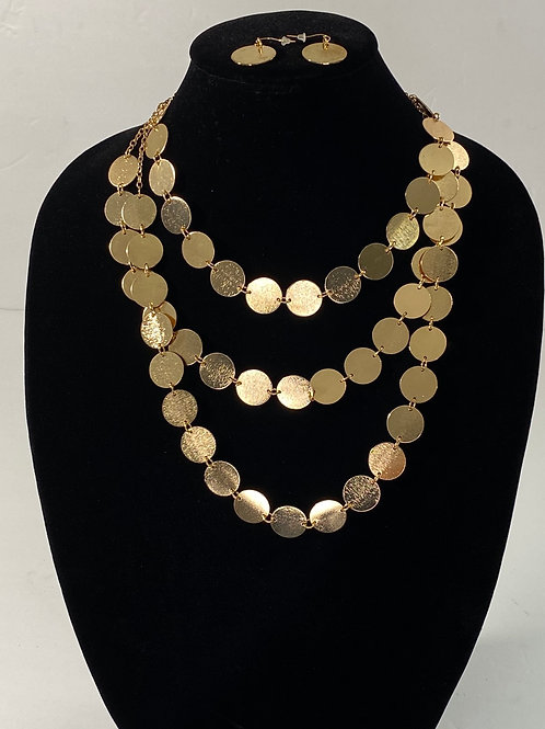 Gold Coin Necklace Set