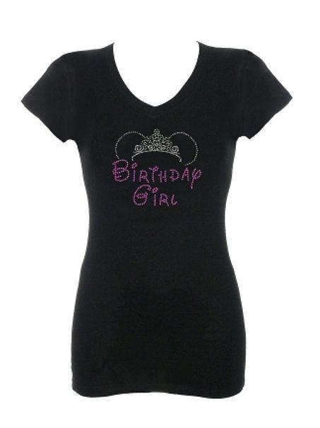 Birthday Girl Rhinestone T-Shirt