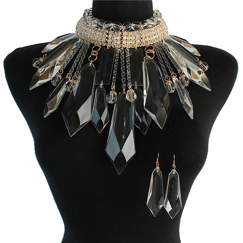 CRYSTAL ICE NECKLACE SET