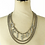 Thumbnail: SILVER RHINESTONE DRIPPING NECKLACE SET