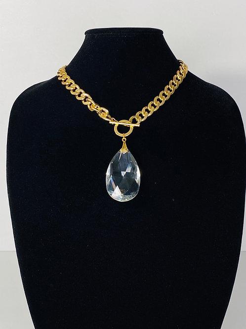 Gold Chain Crystal Diamond Jewel Drop