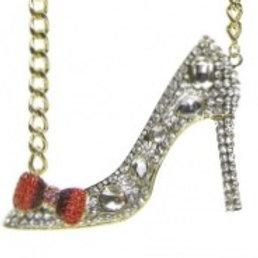 Crystal High Heels Necklace Set