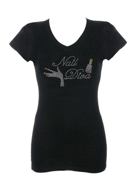 Nail Diva Rhinestone T-Shirt