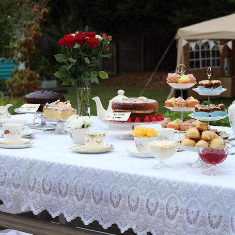 Buffet Style Afternoon Tea Set Up