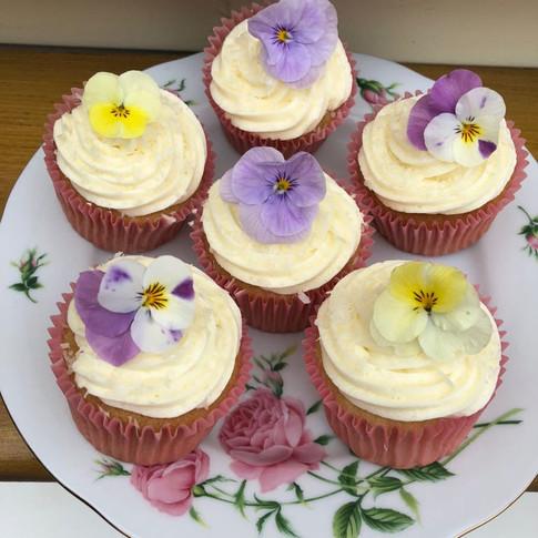 Beautifully Decorated Lemon & Coconut Cupcakes