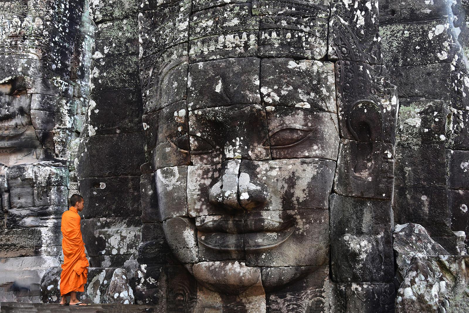 PDI - Monk at Ta Promh by Kieran D Murray (10 marks)