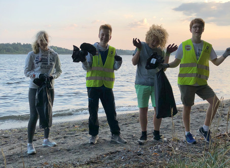 Vi har ryddet strandområdet på Høvik i år også!