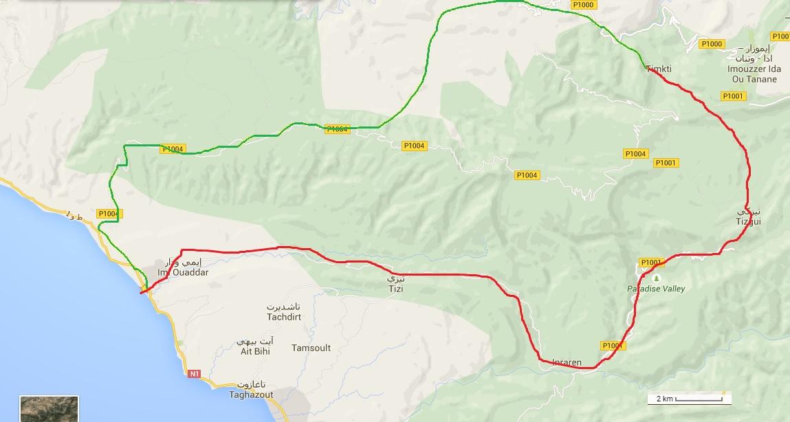 2 jours à vélo dans le nord d'Agadir