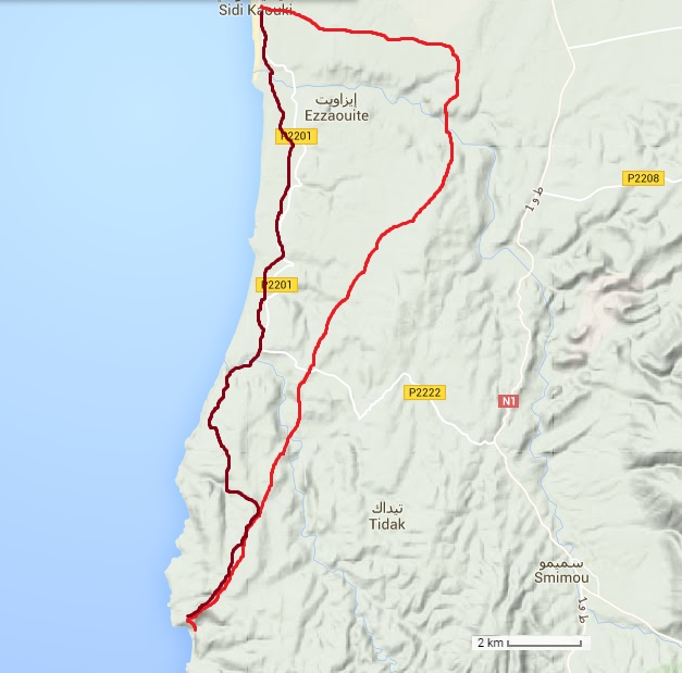 2 jours à vélo Sidi Kaouki-Iftane