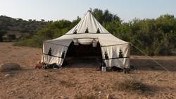 La tente berbère au bivouac