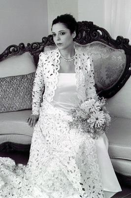 bridal coat front shot