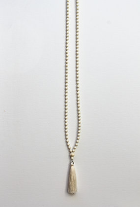 Necklace - Faux Pearl Crystal