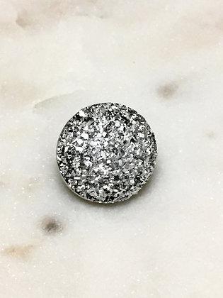 22 Silver Resin Druzy Dome