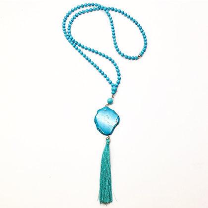 Agate Turquoise Tassel N35